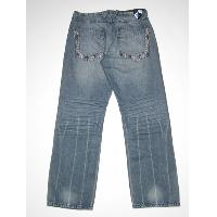 Men's creased hem jean (bk)