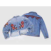 Ladies' embroidered stretch jackets