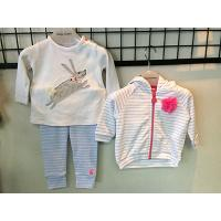 Baby Cotton Applique Top, Trouser, Hooded Jacket Set