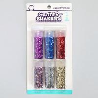 VARIETY PACK GLITTER SHAKERS 6X9G+6ML