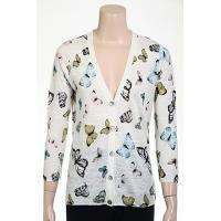 12gg Butterfly Printed Cardigan