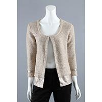 3gg Jersey Cardigan with Satin Fabric