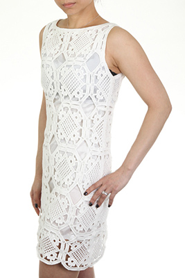Hand Crochet Dress with lining