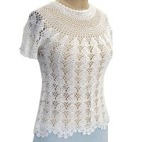 Sell Hand crochet round neck short sleeve Pullover