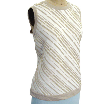 Sell 12GG round neck vest w/ beading