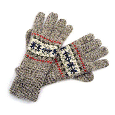 Sell Hand knit jacquard Glove