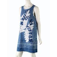 Lady's Applique & Embroidery Sleeveless Dress