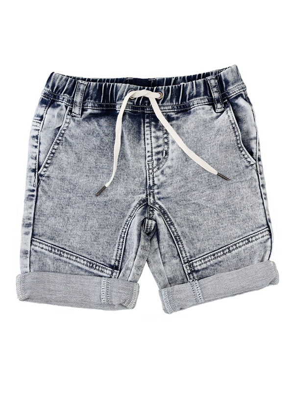 Boy's Denim Terry Shorts