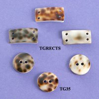 Tiger Shell Buttons