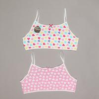 Girls 2pk heart crop top