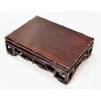 Rectangular Base Decorated With Carved Bamboo Style At All Edges