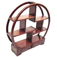 Round Curio Stand With Drawer Base