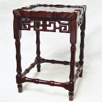 Square Stand Decorated With Openwork Carvings of Curio Patterns