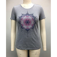 Ladies Crew Neck Top with Print
