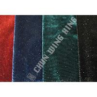Korea Knit Fabric Polyester And Spandex Plain Dyed Velvet With Color Metallic