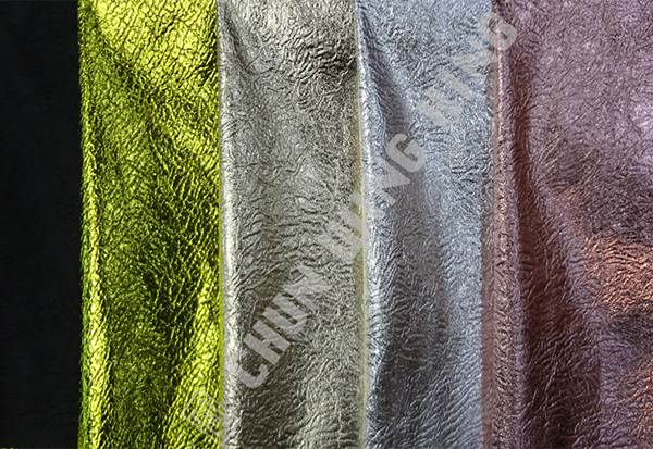 8cd23255ba2 Korea Knit Fabric Polyester And Spandex Plain Dyed Knit With Foil And  Crinkled Effects