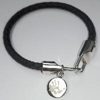 Leather Bracelet With Charm