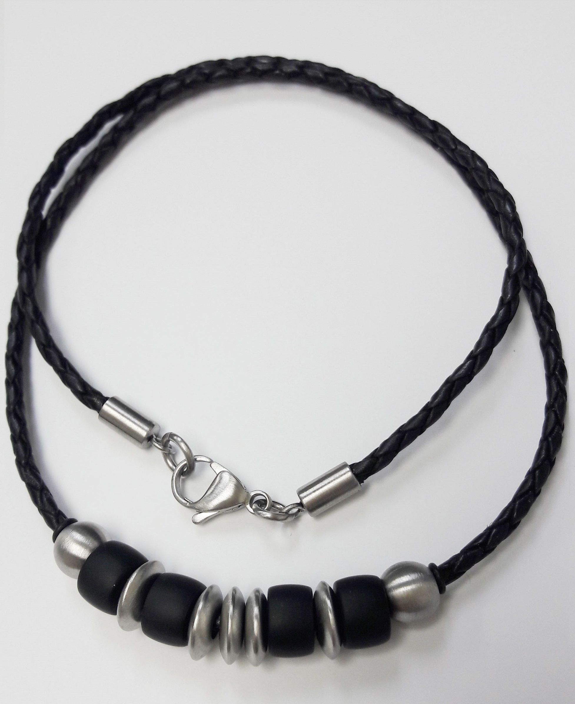 store getty necklace recycled leather the products