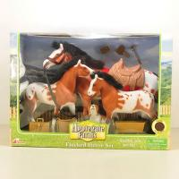 flocked horse set