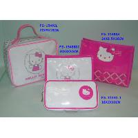 Vanity with big and small cosmetic pouch and mirror pouch