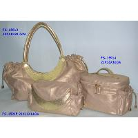 Handbag with vanity and cosmetic bag, FS-15913, FS-15914, FS-15915