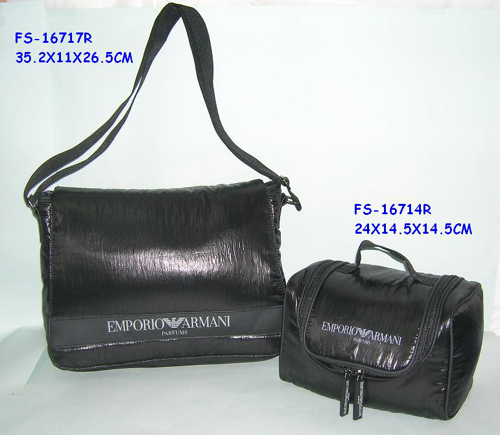 Men bag with toilet bag