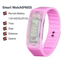 Low Price and High Quality Fashion Pink Health Care Sports Silicone Smart Watch