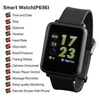 Waterproof Heart Rate Monitor Remote Control Camera Messag Smartwatch IOS Android