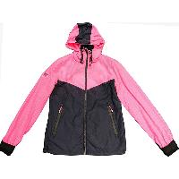 Womens Woven Chevron Storm Breaker Jacket