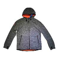 Mens Knitted/Woven Blizzard Sport Zip Hooded Jacket