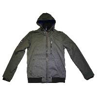 Mens Woven Ascent Zip Hooded Jacket