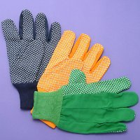 Cotton Woven Gloves with PVC Dots