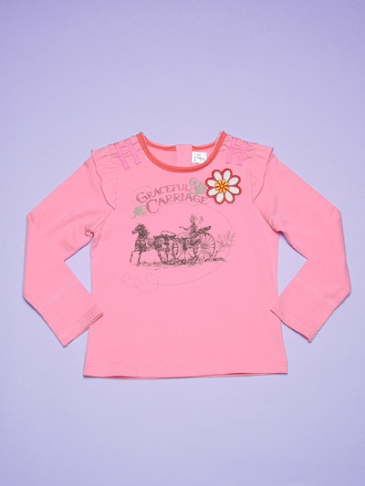 Girl's knitted T-shirt