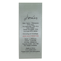 Printed Satin Care Label