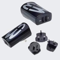 Universal 3.1A dual/quad USB power adapter