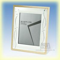 Metal Wooden Frame - Natural Wood Color