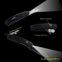 Top Quality Multi-purpose Pocket Knife with LED Flashlight