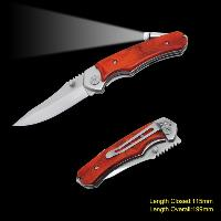 Sell Wooden Handle Folding Knife with LED