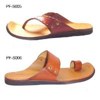 Leather Upper Rubber Sole Casual Comfortable Mens' Thong Sandal