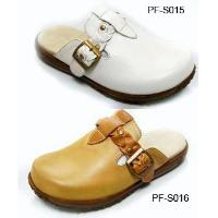 Leather Upper Rubber Sole Casual Comfortable Mens' Clog Slipper