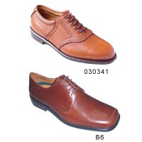 Leather Upper Lace Up Leather / Rubber Sole Men Dress Shoes USA6.5-13