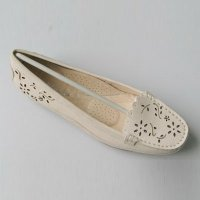 Laser Cut Casual Comfortable Fashion Woman's Slip-on Dress Shoes
