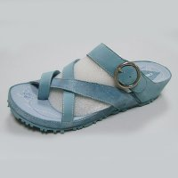 Leather Sandal w/ Buckle Summer Comfortable Woman's Sandal