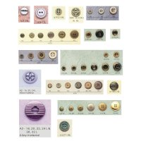 4 & 2 Holes Alloy Button