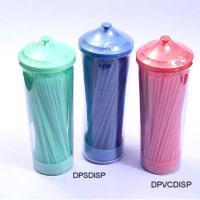 Plastic Flexible Straw in PVC pot, DPVCDISP