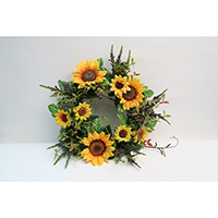 Sunflower, Heather Wreath