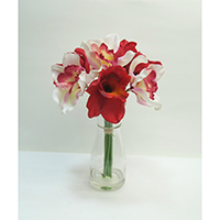 Real Touch Orchid on Glass Vase