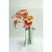 Real Touch Calla Lily on Glass Vase