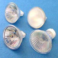 HALOGEN BULBS, MR-13, MR-16  inchesCE inches