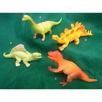 Dinosaur, Small Size. Coloring: Spray Painting., 84001 A-D